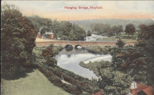 Coloured view of Hanging Bridge