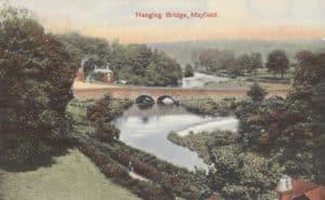 Coloured view of Hanging Bridge