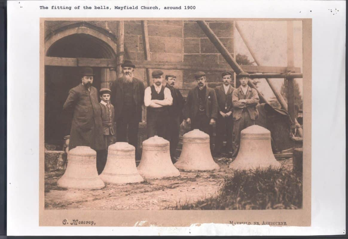 The fitting of the bells, Mayfield Church, c1900 001